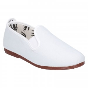 Flossy Crack Childrens Canvas Shoes White (Sizes 5.5-9)