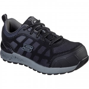 Skechers Bulklin-Lyndale Womens Safety Work Trainer Shoes Black (Sizes 3-9)