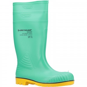 Dunlop Acifort HazGuard Safety Wellington Work Boots Green (Sizes 6-12)