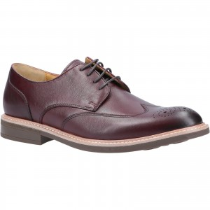 Steptronic George Brogue Formal Shoes Burgundy (Sizes 7-12)