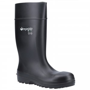 Amblers AS1004 Safety Waterproof Wellington Boots Black (Sizes 4-13)