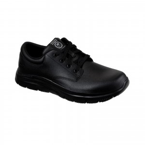 Skechers Fourche Flex Occupational Shoes Black (Sizes 6-12)