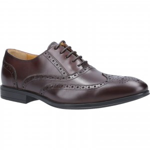 Steptronic Finchley Oxford Formal Shoes Brown (Sizes 7-12)