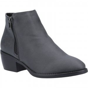 Divaz Ruby Womens Zip Ankle Boots Black (Sizes 3-8)