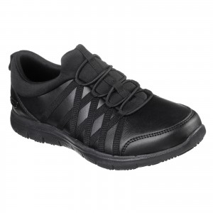 Skechers Ghenter Dagsby Womens Occupational Shoes Black (Sizes 3-8)