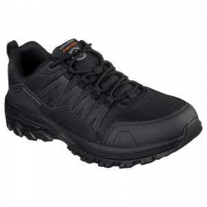 Skechers Fannter Occupational Trainer Shoes Black (Sizes 6-12)