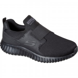 Skechers Cicades Occupational Trainer Shoes Black (Sizes 6-12)