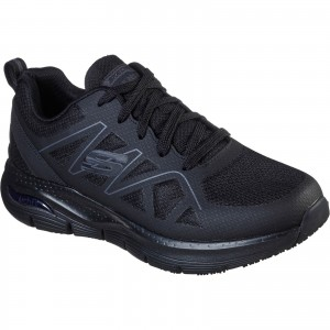 Skechers Axtell Arch Fit Occupational Trainer Shoes Black (Sizes 6-12)