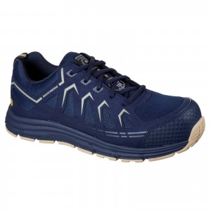 Skechers Malad Safety Work Trainer Shoes Navy (Sizes 6-13)