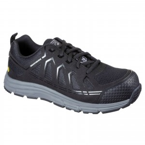 Skechers Malad Safety Work Trainer Shoes Black (Sizes 6-13)