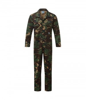 Fort Stud Front One-Piece Mechanics Coveralls Camouflage (Sizes S-XXXL)