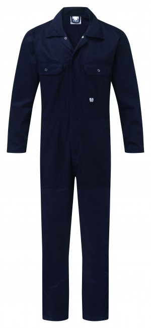Fort Stud Front One-Piece Mechanics Coveralls Navy (Various Sizes)