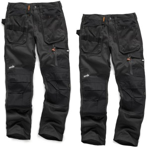 Scruffs TWIN PACK 3D Trade Work Trousers Graphite Grey (Sizes 28in-40in Waist - 30in-34in Leg)