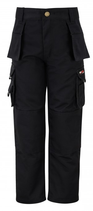 Tuffstuff Pro Childrens Cargo Work Trousers Black (Various Sizes)