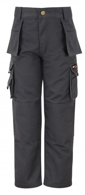 Tuffstuff Pro Childrens Cargo Work Trousers Grey (Various Sizes)