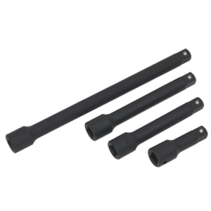 Sealey Premier 1/2in Impact Extension Bar Set 4-Piece