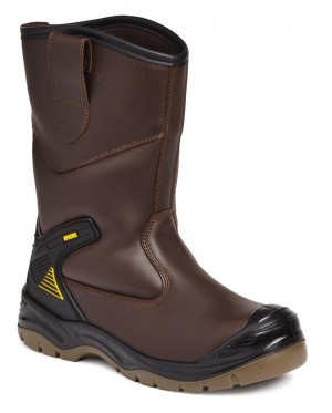 Apache AP305 Waterproof Safety Rigger Work Boots Brown (Sizes 5-13)