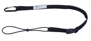 Aresta Bungee Tool Safety Lanyard 2.25kg with Karabiner & Quick Connect Buckle
