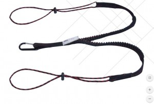 Aresta Bungee Twin Tool Safety Twin Lanyard 10kg with Karabiner