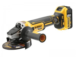 DeWalt DCG405P2 XR Cordless 18v Brushless Grinder 125mm & 2 x Li-Ion 5.0Ah Batts