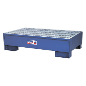 Sealey Heavy Duty Sump Pallet Spill Containment For 2 x Oil Drum 1340 x 800 x 335mm