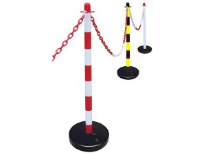 Faithfull Plastic Post for Barrier Chain Fencing (Various Colours)