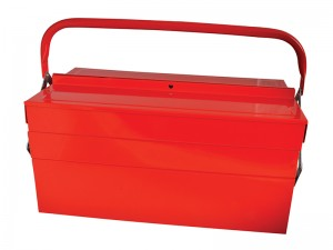 Faithfull 5-Tray Metal Cantilever Toolbox Red (Various Sizes)