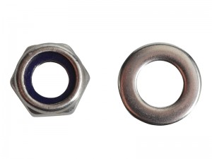ForgeFix Hexagon Nyloc Nut & Washer Stainless Steel Pack Qty's (Sizes M6-12)