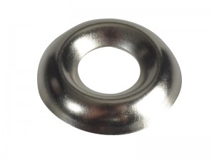 ForgeFix Screw Cup Washer Solid Brass Nickel Plated Bag of 200 (Sizes No6-10)