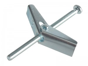 ForgeFix Plasterboard Spring Toggle Fixing Zinc Plated Pack Qty's (Sizes M3-6)