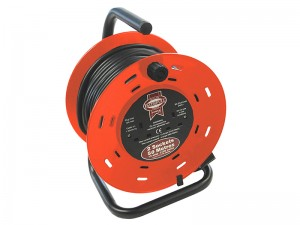 Faithfull Open Drum 50mtr Cable Extension Reel 240v/13a