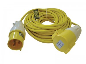 Faithfull 14m Loose 2.5mm Cable Extension Lead 110v With Fitted Plug & Socket 32amp