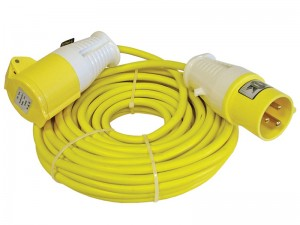 Faithfull 14m Loose 1.5mm Cable Extension Lead 110v With Fitted Plug & Socket 16amp