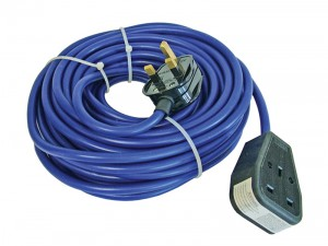 Faithfull 14m Loose 1.5mm Cable Extension Lead 240v With Fitted Plug & Socket 13amp