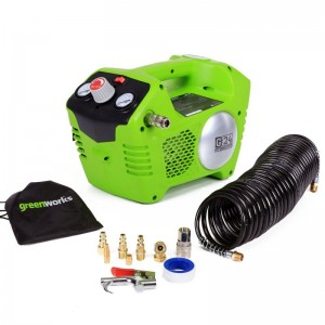Greenworks G24AC Cordless 24v Air Compressor 8bar/115psi with Accessories Bare Unit