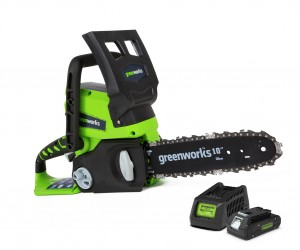 Greenworks G24CSK2 Cordless 24v Chainsaw 25cm/10in with Battery
