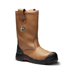 V12 Grizzly Safety Rigger Work Boots Tan (Sizes 5-13)
