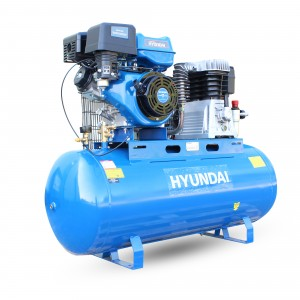 Hyundai HY140200PES Petrol Air Compressor 29cfm Belt Drive 200-Litre with Cast Cylinder