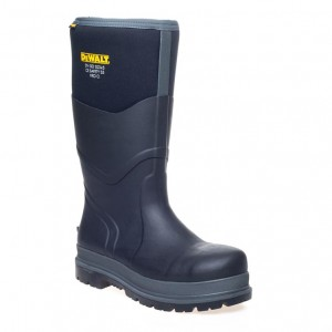 DeWalt Hobart Safety Wellington Work Boots Black (Sizes 6-13)