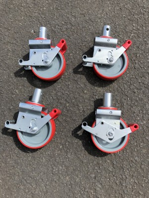 UTS 150mm Castor to suit Alloy Industrial Access Scaffold Towers Pack Of 4