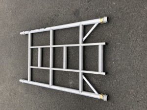 UTS 3-Rung Single Width Ladder Frame to suit Alloy Industrial Access Scaffold Towers