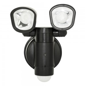 Luceco Twin LED Security Lights with Solar Panel - 400 Lumens