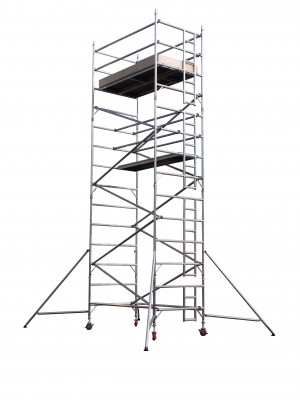 UTS 25DW Industrial Alloy Scaffold Access Tower D/W x 2.5m (Various Heights)