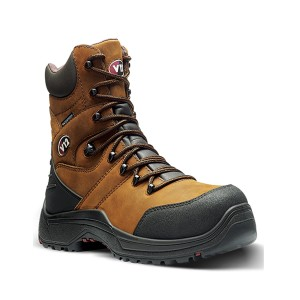 V12 Rocky Waterproof Safety Work Boots Brown (Sizes 5-13)