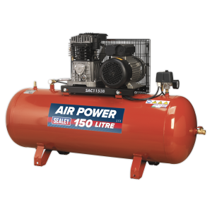 Sealey Air Compressor 13.4cfm Belt Drive 240v with Cast Cylinders (Various Sizes)