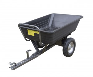Handy TPDC Poly Body Towed Barrow Garden Dump Cart 295kg Capacity