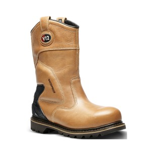 V12 Tomahawk Waterproof Safety Rigger Work Boots Brown (Sizes 6-13)
