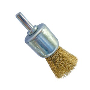 Toolpak Brass Coated Crimped End Wire Brush 24mm