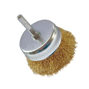 Toolpak Brass Coated Crimped Cup Wire Brushes (50mm Or 75mm)