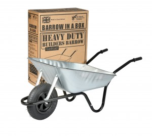 Walsall Easiload Galvanised Wheelbarrow In A Box 85 Litre with Pneumatic Wheel